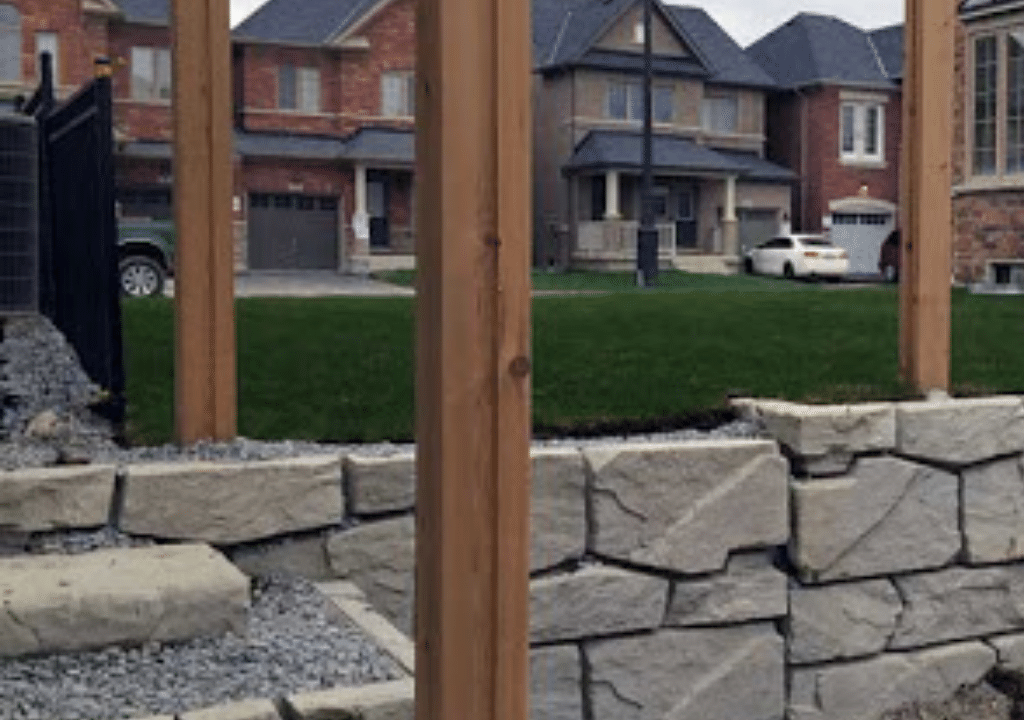Verti Block Retaining Wall with Fence